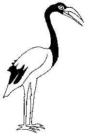Society logo consisting of an ibis - a                   bronze casting was found in a burial mound in the                   town.