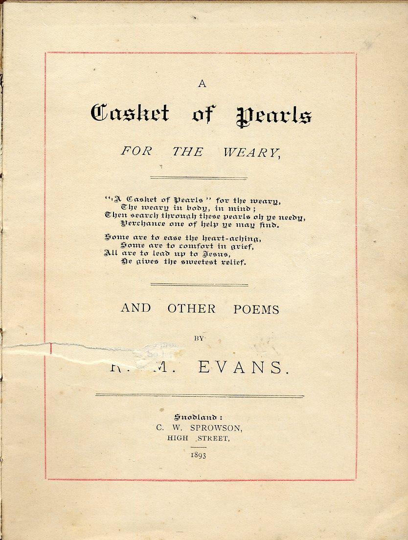 Evans Poems
